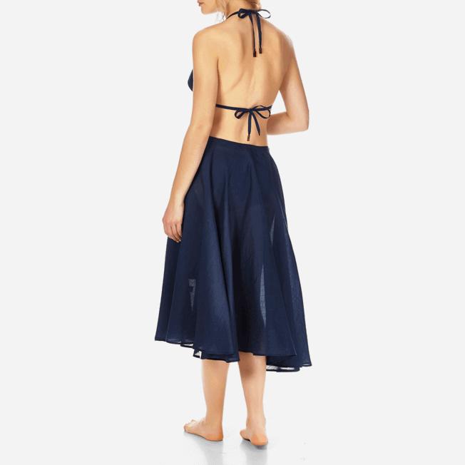 Vilebrequin - Top de triángulo en gasa de algodón liso para mujer - 4