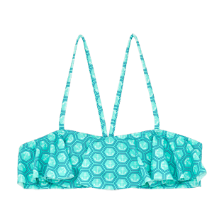Girls Others Printed - Girls frills bikini Top Ancre De Chine, Mint front
