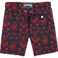 Men Embroidered Embroidered - Tattoo Embroidered Swim shorts, Navy back