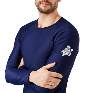 Men Others Solid - Unisex Long Sleeves Rashguards Solid, Navy supp1