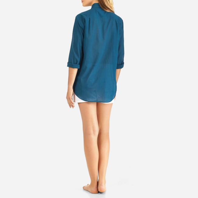 Vilebrequin - Camisa en gasa de algodón con estampado liso unisex - 9