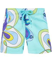 Girls Others Printed - Girls Swim Short Kaleidoscope, Lagoon front