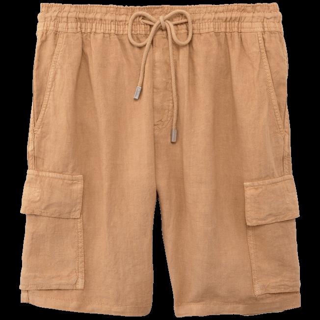 Vilebrequin - Bermudas lisas de lino con bolsillos de fuelle - 1