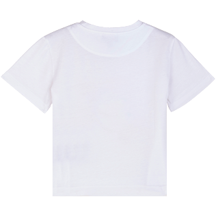 Altri Stampato - Kids Cotton T-Shirt Solid UV reactive, Bianco back