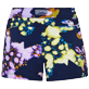 Donna Altri Stampato - Shorts mare donna Watercolor Turtles, Blu marine back