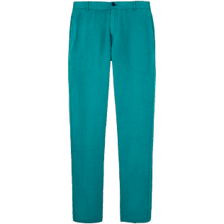 Men Others Solid - Men straight Linen Pants Solid, Pine wood front