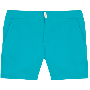 Men Fitted Solid - Solid Superflex Fitted cut Swim shorts, Azure front