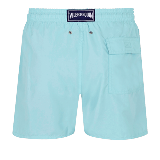 Men Classic Embroidered - Men Swim Trunks Placed Embroidery Infinite Turtles, Acqua back