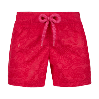 Girls Others Printed - Girls Water-reactive Swim Short 18.7 Tulum, Gooseberry red frontworn