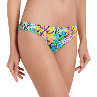 Mujer Braguitas Estampado - Braguitas de bikini de talle medio con estampado Jungle para mujer, Midnight blue supp1