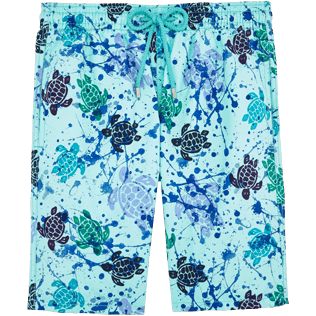 Men Long Printed - Long Cut Swim shorts, Lagoon front