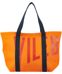 Others Printed - Large Beach Bag Vilebrequin, Apricot front