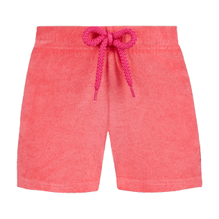 Girls Others Solid - Girls Terry Cloth Shortie Solid, Hibiscus front