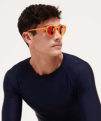 Others Solid - Unisex Floaty Sunglasses Solid, Neon orange frontworn