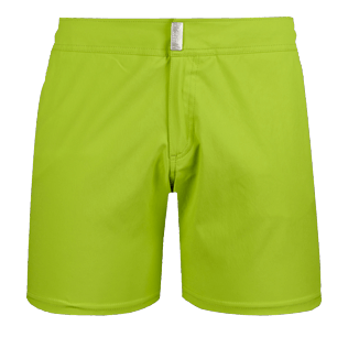 Men Flat belts Solid - Men Flat Belt Stretch swimtrunks Solid, Cactus front