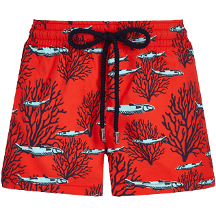 Women Others Printed - Women Swim Short Coral & Fish, Medicis red front