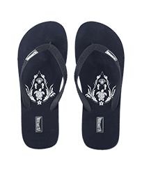 Men Others Printed - Men Flip Flops Pranayama, Navy front