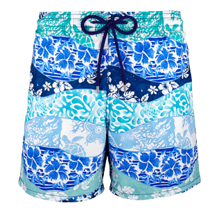 Men Classic Printed - Men Swimtrunks Vague Heritage, Navy front