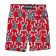 Boys Classic / Moorea Printed - Primitive Turtles Superflex Superflex Swim Shorts, Poppy red back