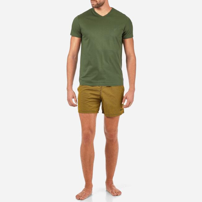 Vilebrequin - Solid V-neck Mercerized cotton T-Shirt - 3