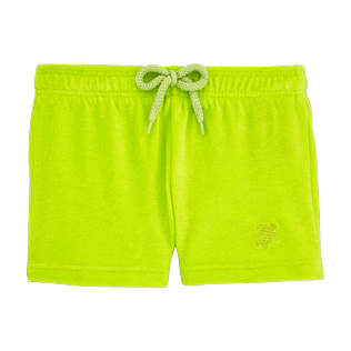 Girls Shorties Solid - Girls Terry Cloth Shortie Solid, Lemongrass front