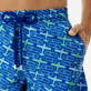 Men 017 Embroidered - Men Embroidered Swimwear St Barth - Limited Edition, Sea blue supp1