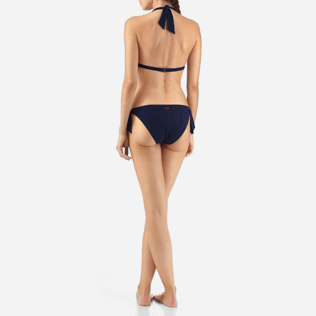 Women Bottoms Lazercut - Micro Ronde des Tortues Bikini bottom, Navy backworn