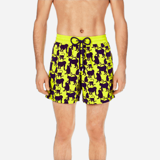 Men Classic Printed - Men Swimwear Flocked Happy Monkey, Chartreuse supp1