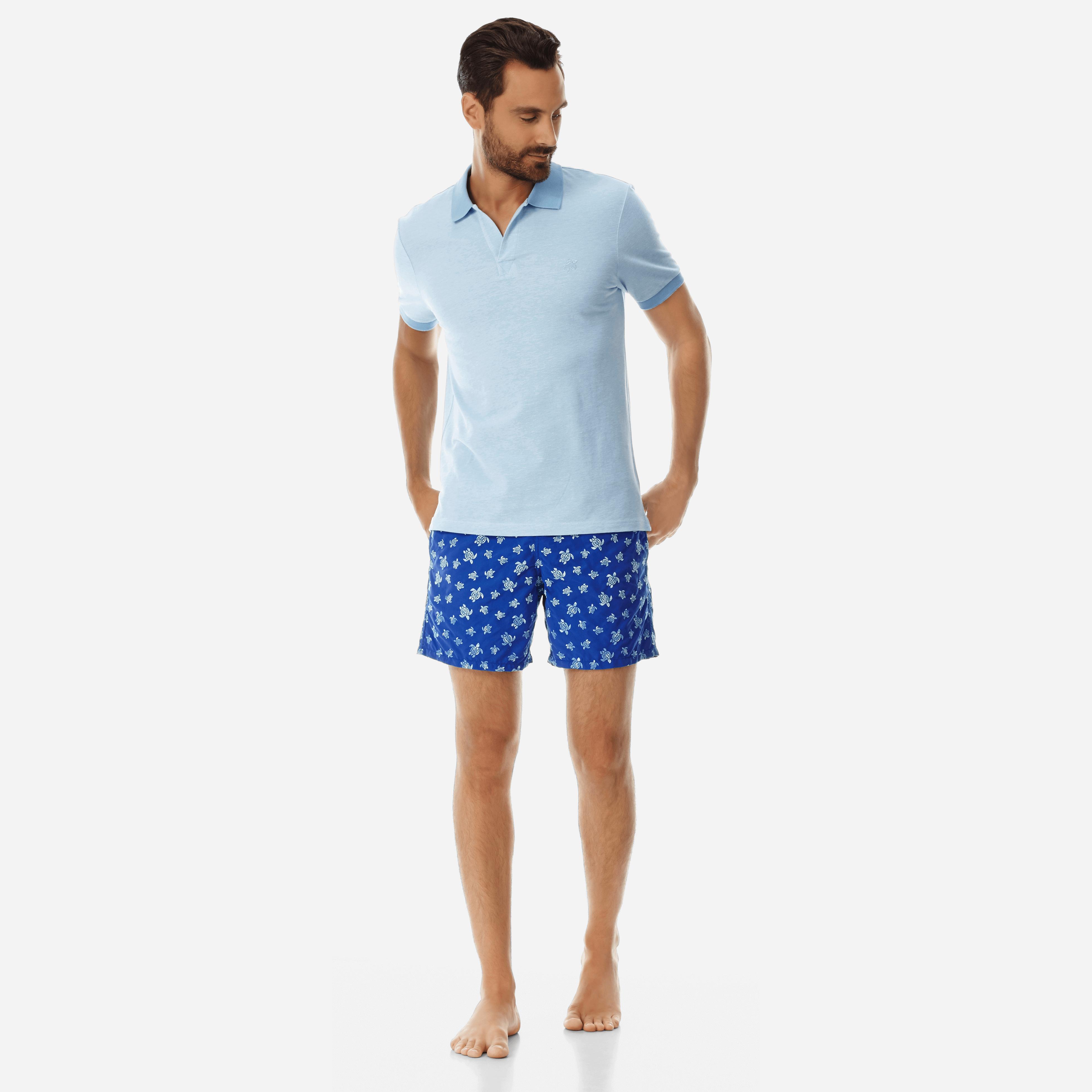 PRET A PORTER HOMME - Polo en Piqué de Coton Homme Uni - POLO - PALATIN - Bleu - XXL - Vilebrequin