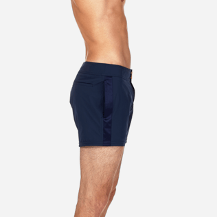 Men Short Solid - Smoking Tuxedo fitted Swim shorts, Navy supp3