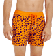Men Classic Printed - Men Swimtrunks Flocked  Micro ronde des tortues, Safran supp1