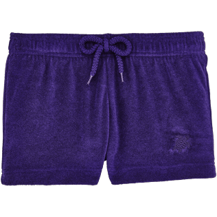 Girls Others Solid - Girls Terry Cloth Shortie Solid, Amethyst front