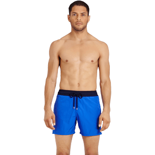 Men Ultra-light classique Solid - Men Swimwear Ultra-light and packable Bicolour, Royal blue frontworn