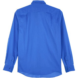 Others Solid - Unisex Cotton Voile Light Shirt Solid, Sea blue back