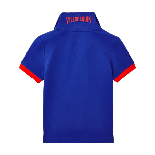 Boys Others Solid - Boys Cotton Pique Polo shirt Solid, Neptune blue back