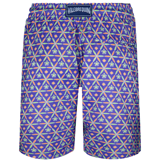 Men Long classic Printed - Men Swim Trunks Long Ultra-light and packable Indian Ceramic, Madras back