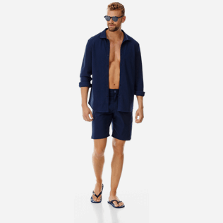 Men Others Solid - Men swimwear fabric straight Bermuda Shorts Solid, Navy supp2