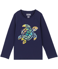 Others Printed - Kids Rashguard Jungle, Midnight blue front