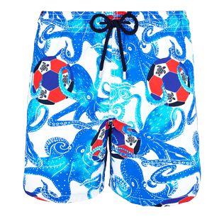 Men Classic / Moorea Printed - Men Swimwear Soccer Turtles, White front