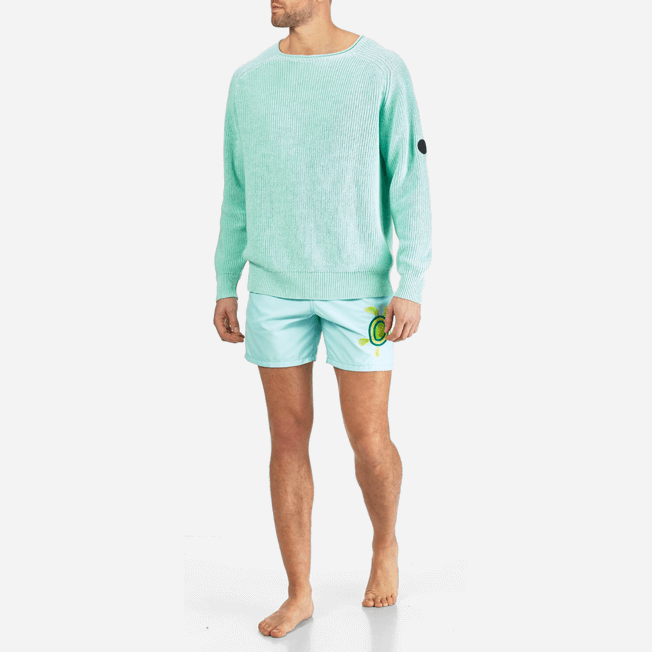 Vilebrequin - Men Cotton Linen Pullover Solid - 3