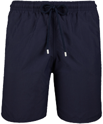 Men Long classic Solid - Solid Long Cut Swim shorts, Navy front