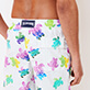 Men Long classic Printed - Men Swim Trunks Long Ronde des Tortues Aquarelle, White supp1