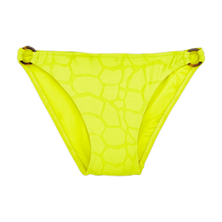 Girls Others Solid - Girls Bikini Bottom Turtles Scales, Chartreuse front