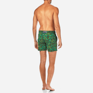 Homme Classique Moorea Imprimé - Maillot de Bain Superflex Natural Flowers, Olive backworn