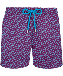 Men Stretch classic Printed - Men Stretch Swim Trunks Micro Ronde des Tortues, Kerala front