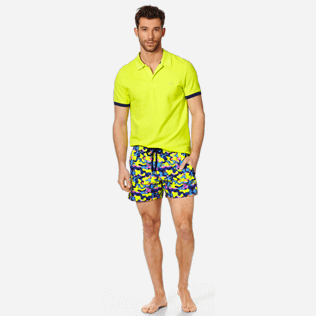 Men Stretch classic Printed - Men Swimwear Stretch Neo camo Turtles, Neon yellow supp2