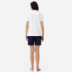 Women Others Solid - Women Terry cloth Polo Shirt Solid, White backworn