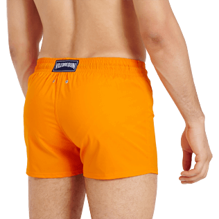 Men Short classic Solid - Men Swim Trunks Short and Fitted Stretch Solid, Safran supp1