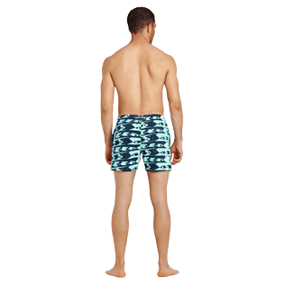 Men Stretch classic Printed - Men Swim Trunks Stretch Attrape moi si tu peux - WEB EXCLUSIVE, Lagoon backworn