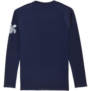 Others Printed - Unisex Long Sleeves Rashguards Solid, Navy back